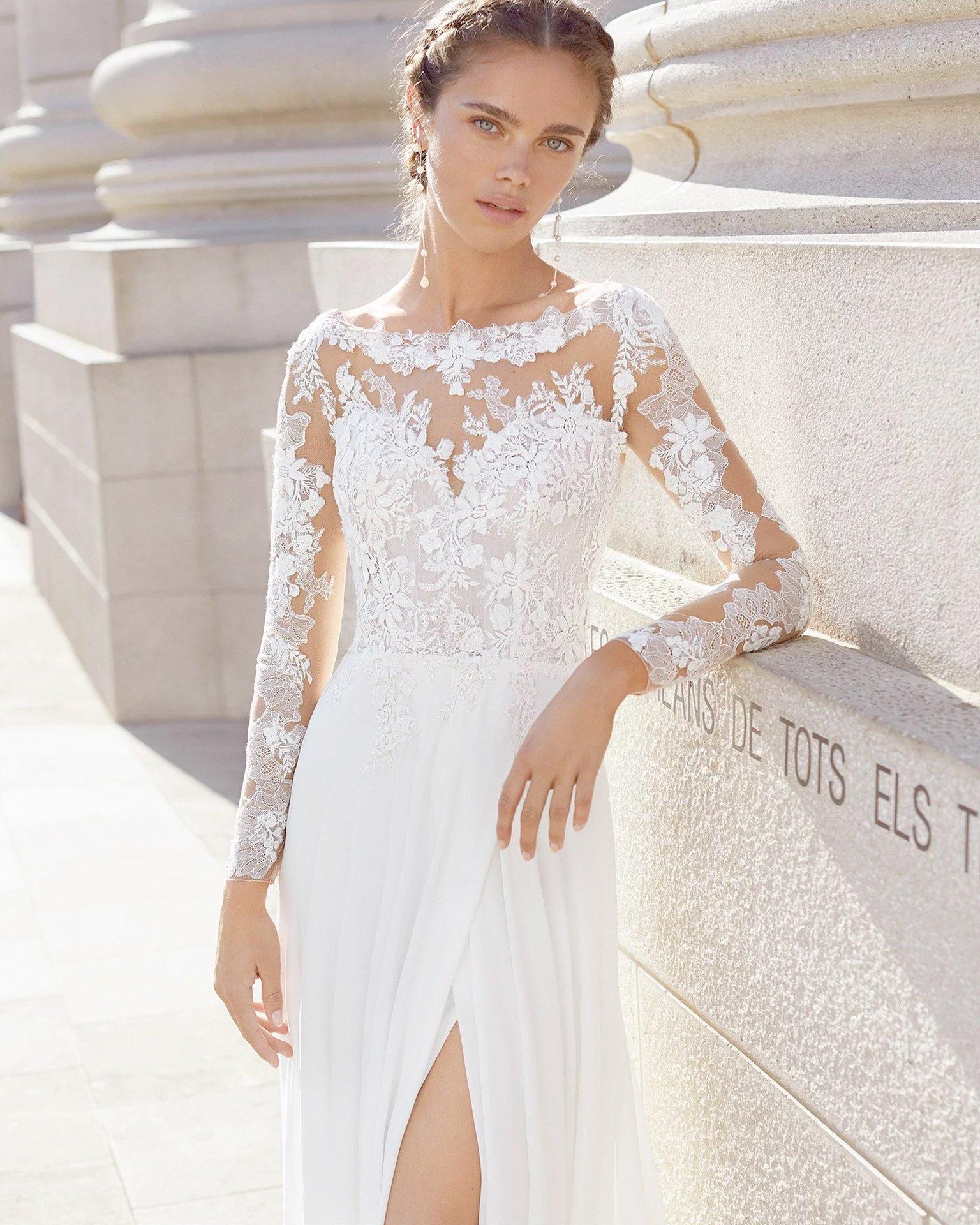 Brautkleid mit Spitzen